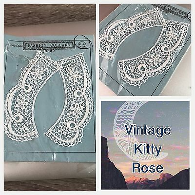 Vintage Lace Crochet Pretty Delicate Sew On Fashion Collar For Shirt DIY