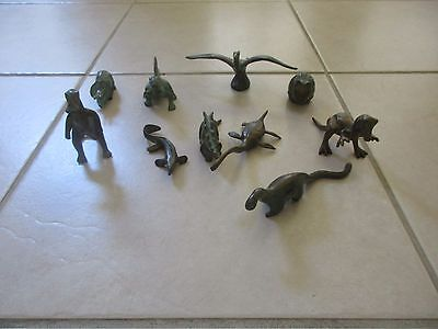 RARE Collectible Vintage 1940s SRG Brass Metal 10 Dinosaur collection
