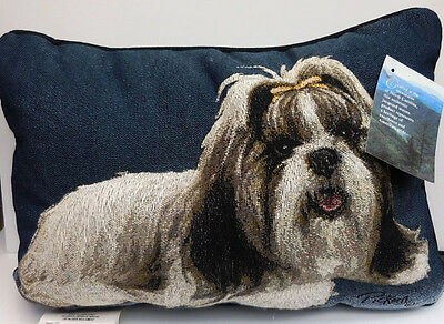 Shih Tzu Puffy Throw Pillow, Polyester/cotton, Manual Woodworkers, Item 43820