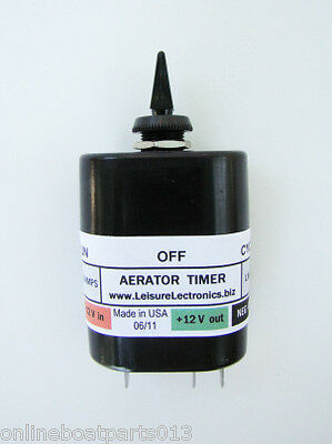 SWITCHED BOAT AERATOR LIVEWELL TIMER, 30 SECONDS x 3 MINUTES, 10 AMP MODEL LWS-T