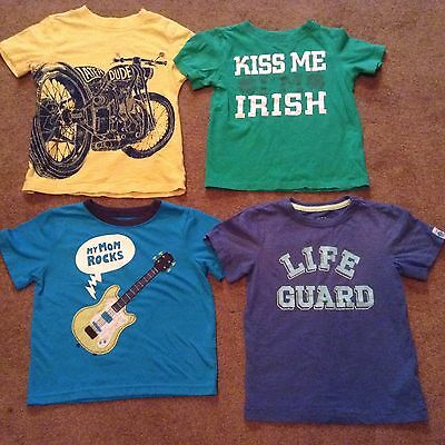 Lot of 4 Boy's Carter's Graphic T-Shirts Size 4T