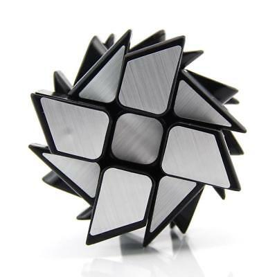 2.3'' Magic Cube Silver Mirror Cube Puzzle Speed Toy Brain Teaser Game Gift