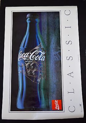 Rare Ship In A Coca Cola Bottle Poster 22 X 25