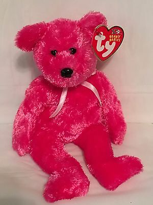 TY Beanie Baby - SHERBET the Raspberry Bear - Pristine w/Mint Tags - RETIRED