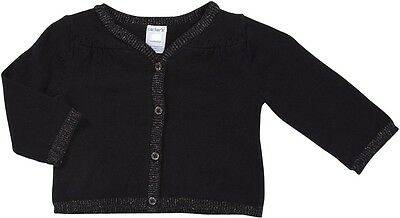 NWT NEW Carter's Black Cardigan Sweater Infant Baby Girls Layette 6 months