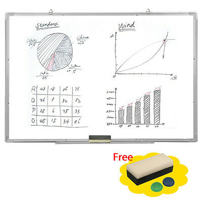 """Single Side Magnetic Writing Whiteboard Office Universal Dry Erase Board 35""""x23"""""""