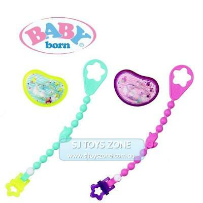 Baby Born Doll Dummy with Chain Assorted Color Fun Kids Pretend Play Toys