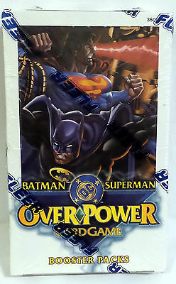 The Dc Universe : Batman Superman Overpower Cardgame Booster Packs Sealed Box