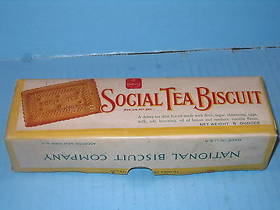 Nabisco National Biscuit Co Social Tea Biscuit EARLY 5 Oz Box Nicely Preserved