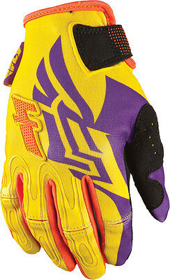 Fly Racing Kinetic Girl's Gloves Yellow/orange/purple Sz 2X Fly Racing Accessori