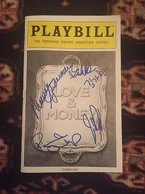 Love and Money Cast Signed Playbill