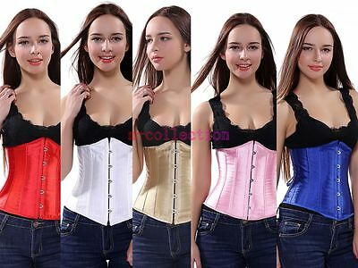 Plus size Lace Up Boned Underbust Corset Bustier Waist Cincher Bodyshaper