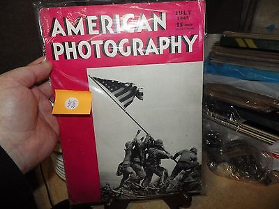 Vintage American Photography Magazine World War 2 Issue July 1945
