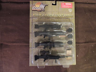 The Ultimate Soldier MODERN US MACHINE GUN SET – SERIES III -  New 1:6 scale