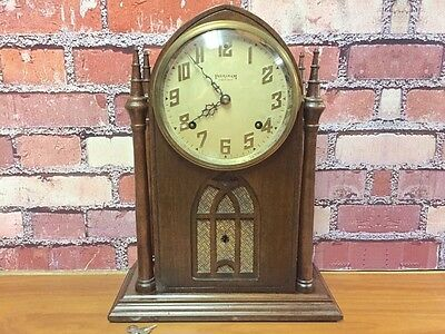 Beautiful Vtg Antique Ingraham Steeple-Beehive Cathedral Chime Mantle Wall Clock