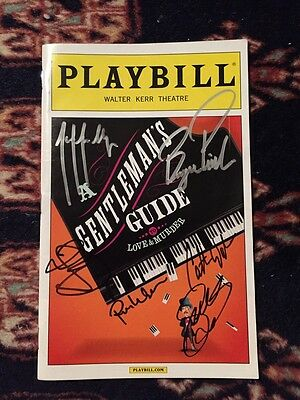 Gentlemans Guide to Love and Murder Cast Signed playbill