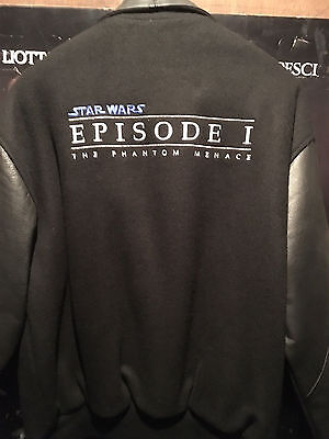 Star Wars Episode One 1 Phantom Menace ILM VFX CREW JACKET Rare Leather/Wool Med