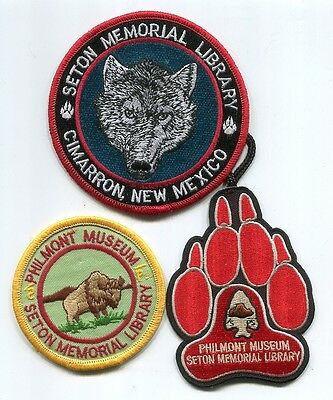 Patch From Philmont Scout Ranch -Pocket Patch- Lot Of 3 Museum Patches