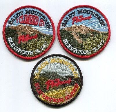 Patch From Philmont Scout Ranch -Pocket Patch- Lot Of 3 Peak Patches