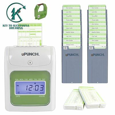 Small Business Time Clock for Employee Punch In/out Cards Payroll Machine System