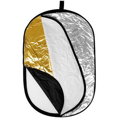 "Neewer  5-en-1  80X120cm/31""x 47"" Reflector de luz disco Oval plegable"