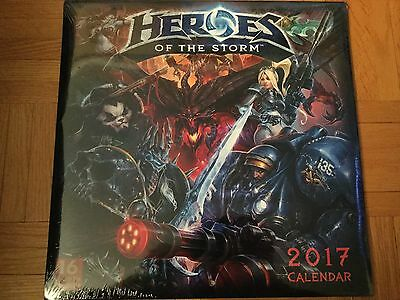 Heroes of the Storm 2017 Calendar with Artwork