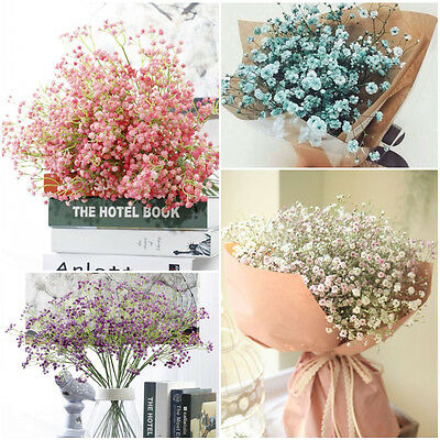 Artificial Baby's Breath Gypsophila Silk Flowers Bouquet Wedding Party Decor