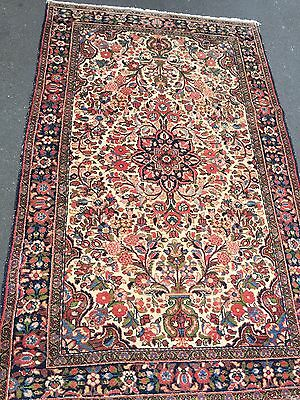 Persian Antique Kashan Rug.hand Made And Old.
