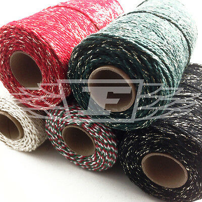 Sparkling Christmas Bakers Twine Xmas Butchers Bakers Art Crafts Red White Green
