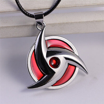 NARUTO Hatake Kakashi Sharingan Alloy Metal Necklace Pendant Anime Cosplay Gift