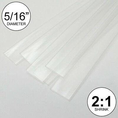 "(3 FEET) 5/16"" Clear Heat Shrink Tubing 2:1 Ratio Wrap inch/foot/ft/to U.S.A 8mm"