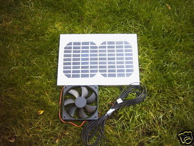 Hipower 5W Solar Ventilation Kit,12Cm Fan,for Summer House,garden Office,shed