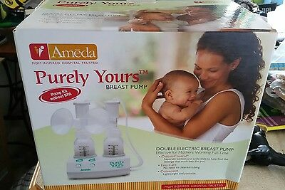 Ameda Purely Yours double electric breast pump plus extras ***