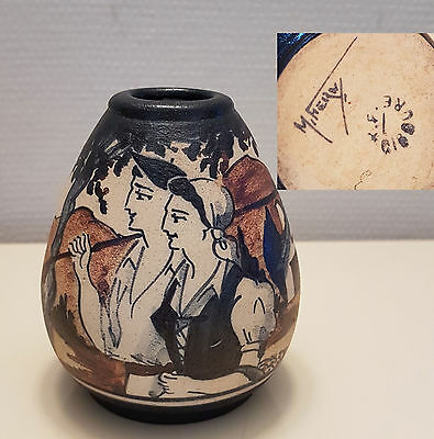 Ciboure Vase Ceramique Rodolphe Fischer Couple Basque 5
