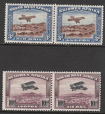 South West Africa 1931 #86 #87  Mint Gv Airmail Bi-Planes Stamp Set