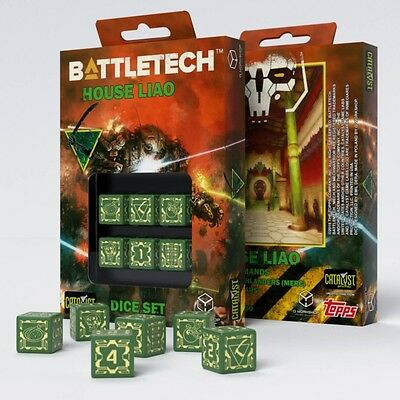 Q-Workshop BattleTech House Liao D6 Dice set (6) | Würfel, W6