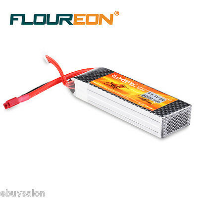 4000mAh 11.1V 3S 25C LiPo RC Battery Deans for RC Car Truck Helicopter Airplane
