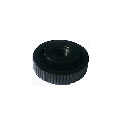 Nylon (Plastic) Black Thumb Nuts with Collar (Fine Knurled) M3-M8 Sizes