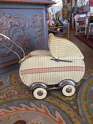 Vintage Wicker Doll Buggy Excellent Condition