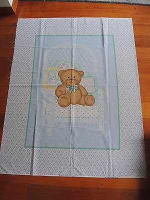 Unsewn cot panel Teddy Bear **FREE POSTAGE