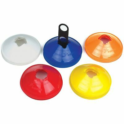 Precision Training Sports Space Markers Saucer Cones 10 or 50 Mixed Colours