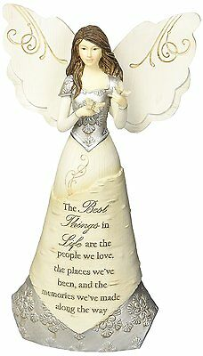 Pavilion Gift Company Elements 82328 Angel Figurine Holding Butterflies, Best In