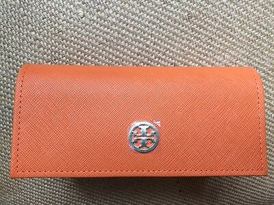 TORY BURCH Orange Sunglasses Case NEW Glasses Cosmetic Case