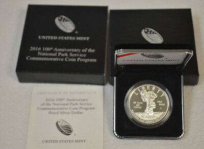 2016 100th Anniversary of the National Park Service Proof Silver Dollar Coin