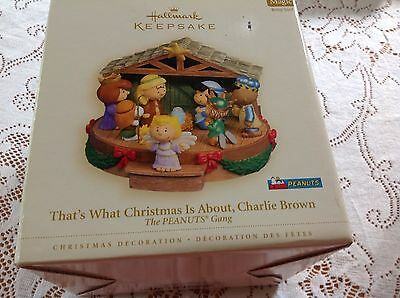 2006 Hallmark THE PEANUTS GANG Nativity Scene Music Box Snoopy Charlie Brown&Box