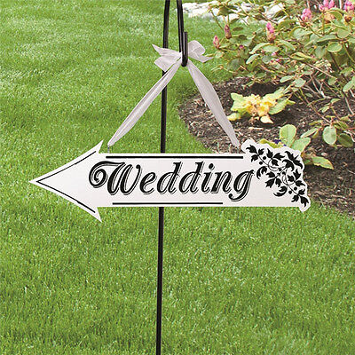 Wood Wedding Party Direction Arrow Sign Wedding Floral Reception Indicator NEW