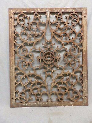 Antique Cold Air Return Grate Register Decorative Vent Old Vintage 19x25 455-17R