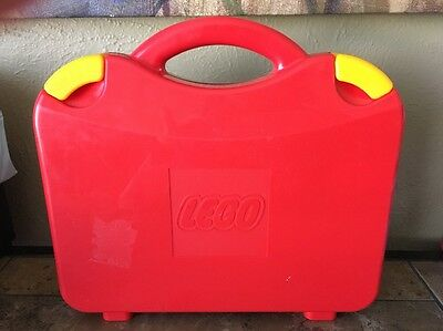 Lego red carrying case storage