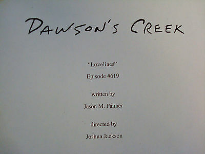 Dawson's Creek Original Script Episode 6.19 'Lovelines' Joshua Jackson