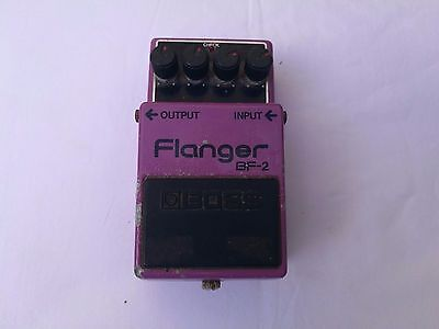 Boss Bf-2 Flanger Mij Japan Black Label Silver Screw - Free Next Day Delivery Uk